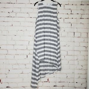 Bar III Asymmetrical-Hem Striped Tank Dress